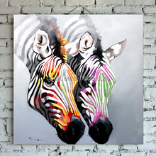 Modern new style Wall Art zebra animal painting