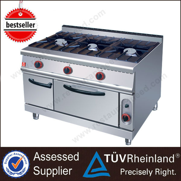 2017 Kitchen Equipment 3 Burner Commercial Cooking range prices