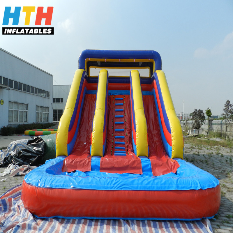 Cheap Used Large Inflatable Swimming Pool Water <strong>Slide</strong> for Sale