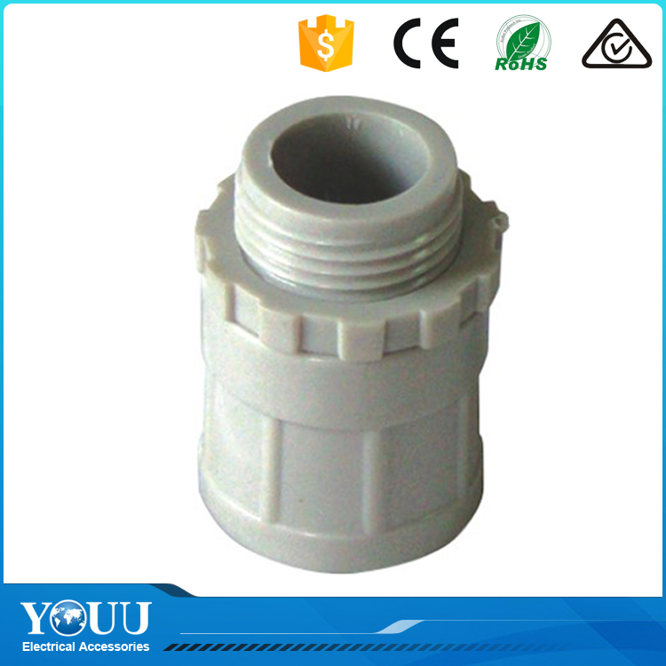 YOUU 2016 Highest Demand Products Insulation Property PVC Electrical Fitting Screw Adaptor