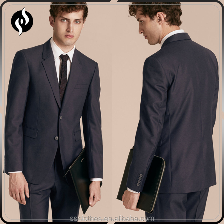 2017 New design modern slim fit custom blazer price top brand coat pant men suit
