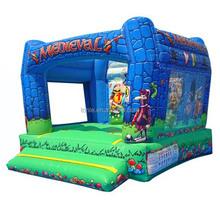cheap indoor inflatable Medieval Bouncer jumper for sale, inflatable moonwalk for kids, inflatable jumping bouncy castle
