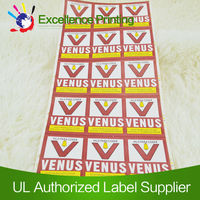 Permanent adhesive waterproof labels for glass for free sample