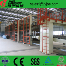 Full automatic gypsum drywall board production line for wall building