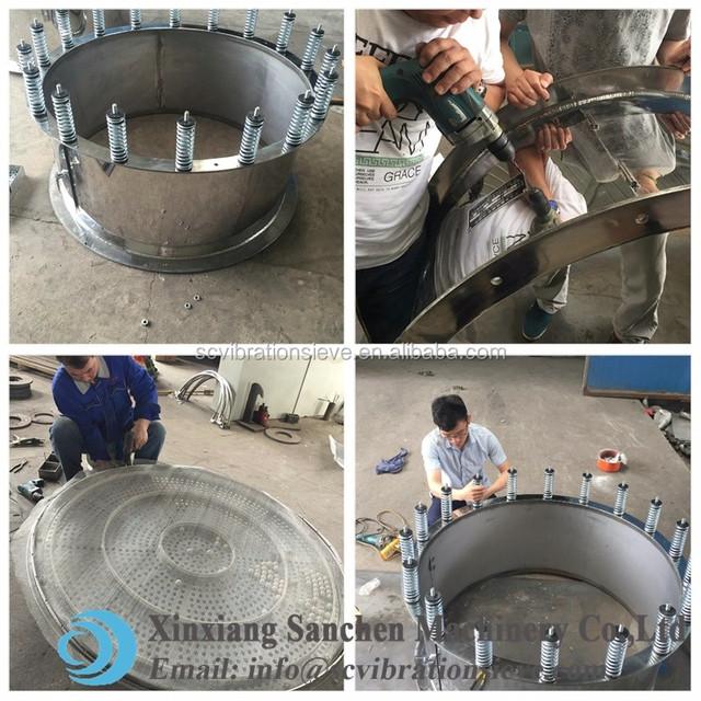 Hot sale Small mesh size Mica diamond limestone rotary vibration screen