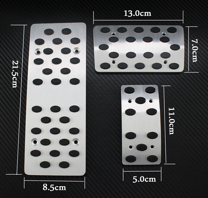 car foot pedal aluminum auto pedal fit for toyota prado fj120 accessories