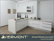 white high gloss fitted kitchen