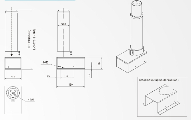 Electric Lifting Column For Projector and Tables