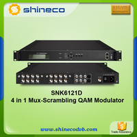 Digital Cable TV Modulator With Multiplexer Scrambler QAM Function