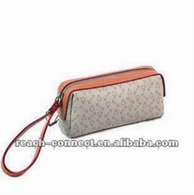 2012 new fashion clutch zip lady wallet cosmetic PVC round bag