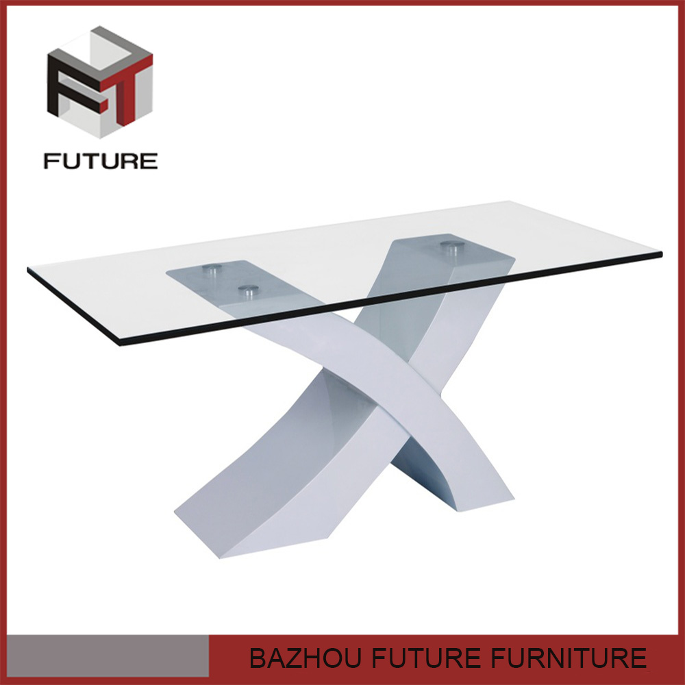 Mdf Wood Base X Shape Square Glass Dining Tables Buy Glass Dining Table X S