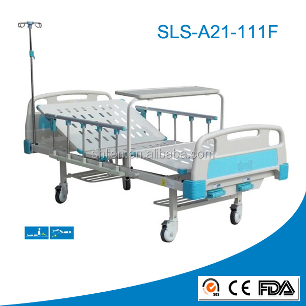 Cheap Hospital Bed with Over Table Basic Hospital Bed