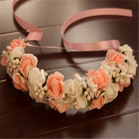 Top level hot-sale silk flower lei wreaths poppy wholesale