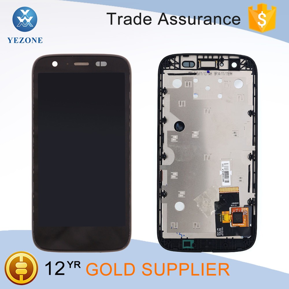 Replacement lcd display touch digitizer screen assembly for moto <strong>g</strong> xt1032 xt1033 lcd with frame