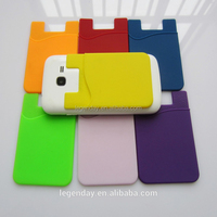 3M Sticker Silicone Mobile Phone card holder Back Pouch