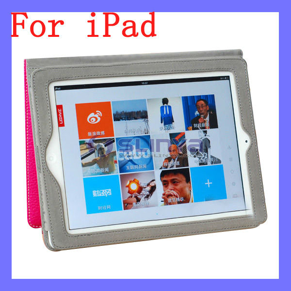 Mini Soft Leather Hand Bag Tablet Protector Color Fold Smart Case for iPad
