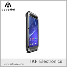 Love Mei Powerful Life Waterproof Shockproof Metal Aluminum Case Cover For Sony Xperia T2 Ultra + Gorilla Toughened Glass