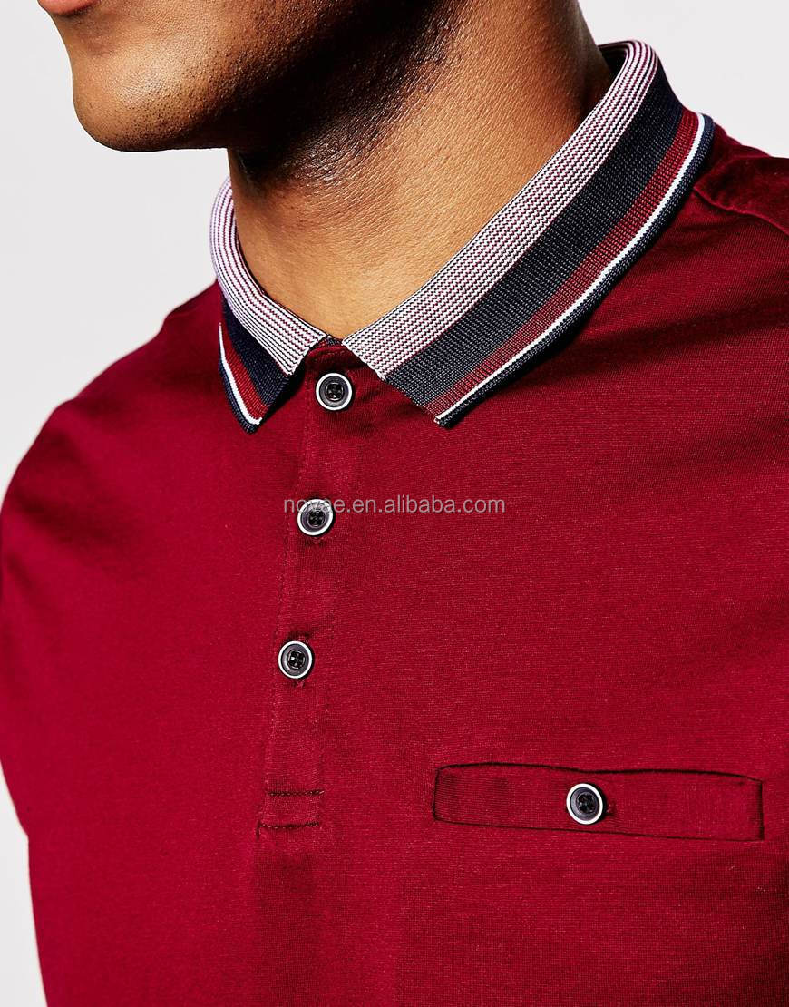 100 nylon short sleeve constrast collar polo shirt with for Cheap polo collar shirts