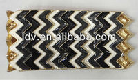 Fashion Chevron Enamel Bangle Bracelet