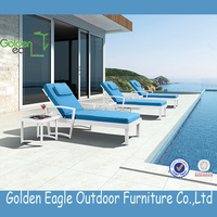 Aluminium Furniture With Cushion Sunbed Chaise