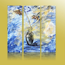 Home Decoration Abstract Fabric Painting Designs On Canvas