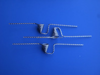 Alibaba China manufacture coiled funnel shaped tungsten wire