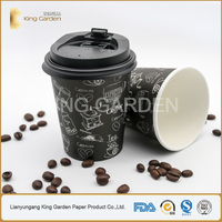 Hot selling 8oz single wall paper hot coffee cup Lianyungang Factory