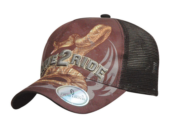Screen Print Logo Underbrim Baseball Cap With Printing