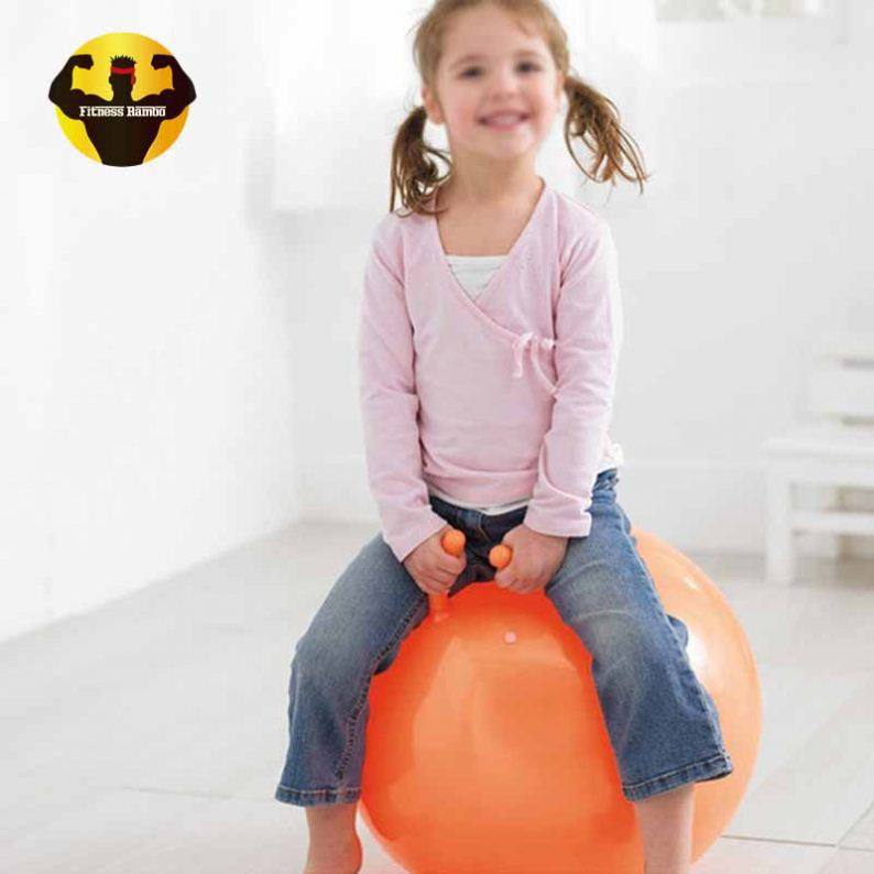 RAMBO Best Selling New Stress Handle Space Hopper Kids Jumping Fitness Ball