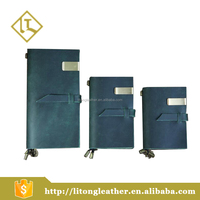 Factory direct sale cheap price leather cover notebook with elastic strap