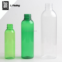 120ml 240ml 360ml empty green round PET plastic cosmetic lotion pump bottle