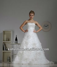 EB1100 Very full tulle with modest lace wedding gowns
