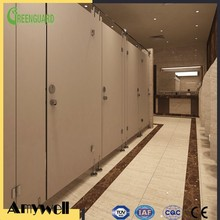 Amywell fireproof compact hpl toilet partition board with 304 stainess steel accessories