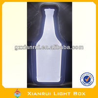 Silk Screen Beer Bottle Shape Slim Sign
