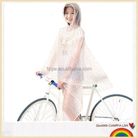 Crystal dots rain poncho raincoat bike