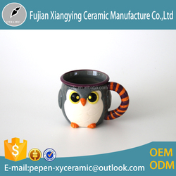 bird shaped Artwork Hand painted ceramic tea cup for gift