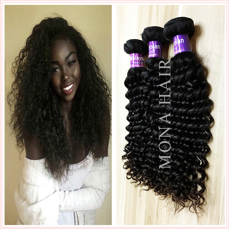 Guangzhou Mona hair top quality thick end deep wave hair fast shipping no tangle good product black short hairstyles for women