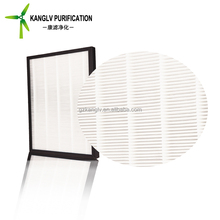 Cheap hot sale pleated paper frame air conditioning filters for home air filtration system