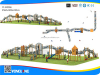 wooden amusement outdoor playground equipment with amusement for park