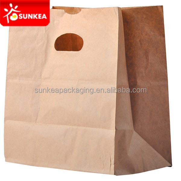 Food Grade Paper Packaging Takeaway Groceries Supermarket Bag