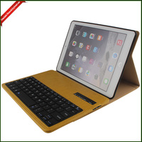Mini Bluetooth Keyboard Leather Case for iPad , Tablet Bluetooth Keyboard Case with Holder