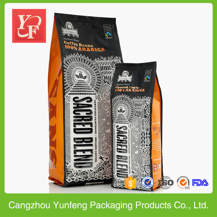 Hot sealing metalized side gusset pet food packaging bag