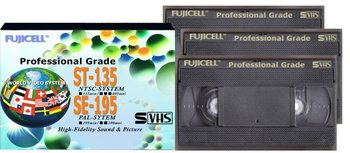 Professional Grade S-VHS Video Tapes