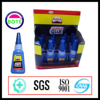 Hot selling style 401super glue with display box pack, bond within a few seconds