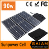 90W foldable solar panel charger