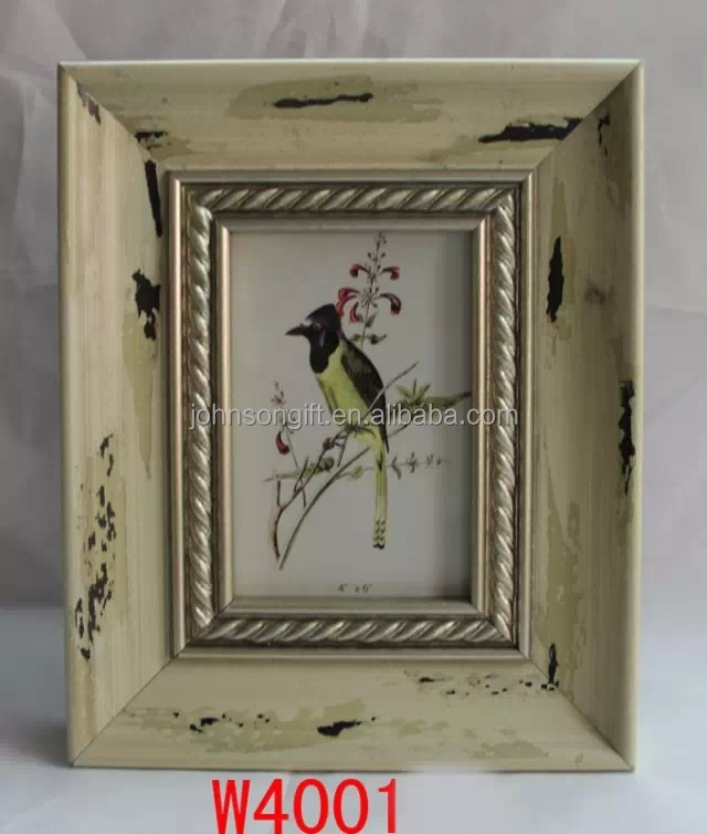 Shabby Chic Solid Thick Wooden 1.00 Photo Picture Frame for Home Decoration