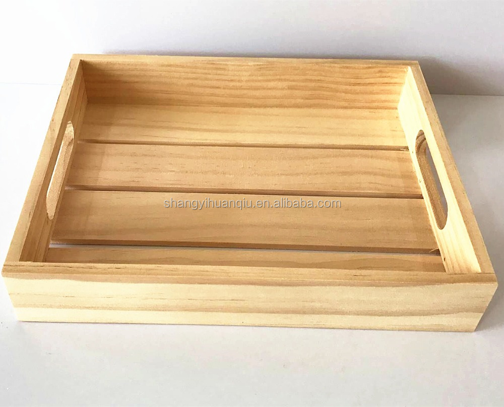 2017 new design handmade carved wooden serving tray