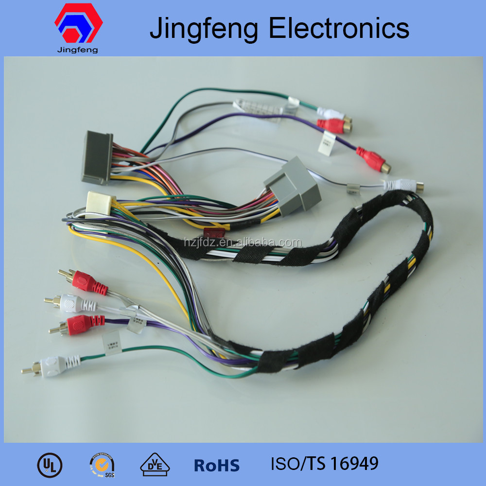 Professional male female wiring harness connectors for Honda