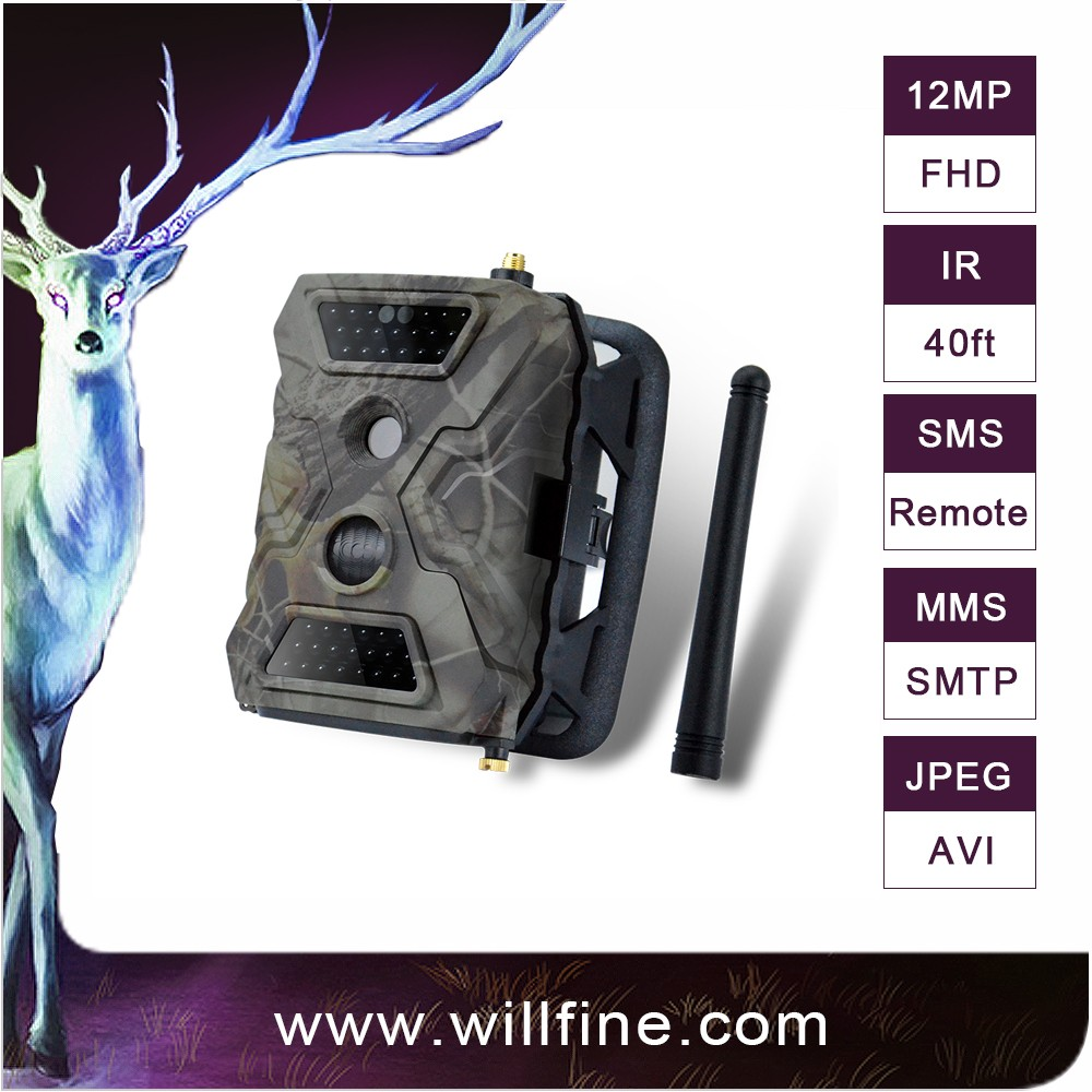 PIR motion detection night vision 12 MP 1080P trail camera gprs gsm mms hunting game hidden camera