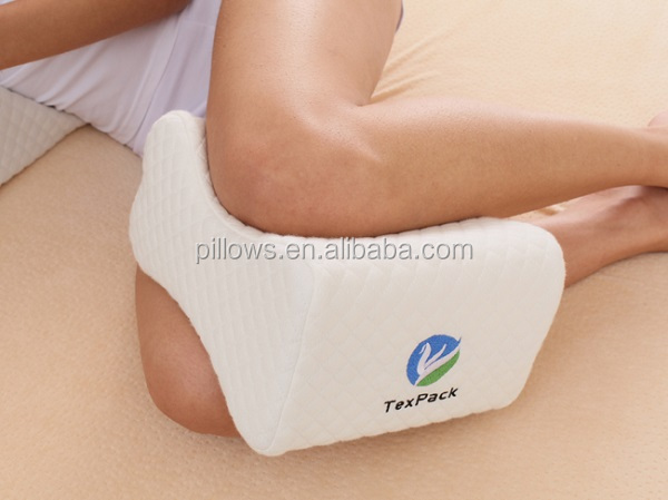 OEM ODM Memory Foam Contour Knee Pillow & Leg Rest-Includes Removable Comfort for side sleeper